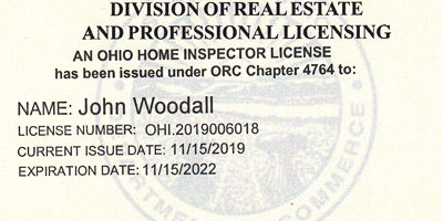 Ohio Home Inspector License